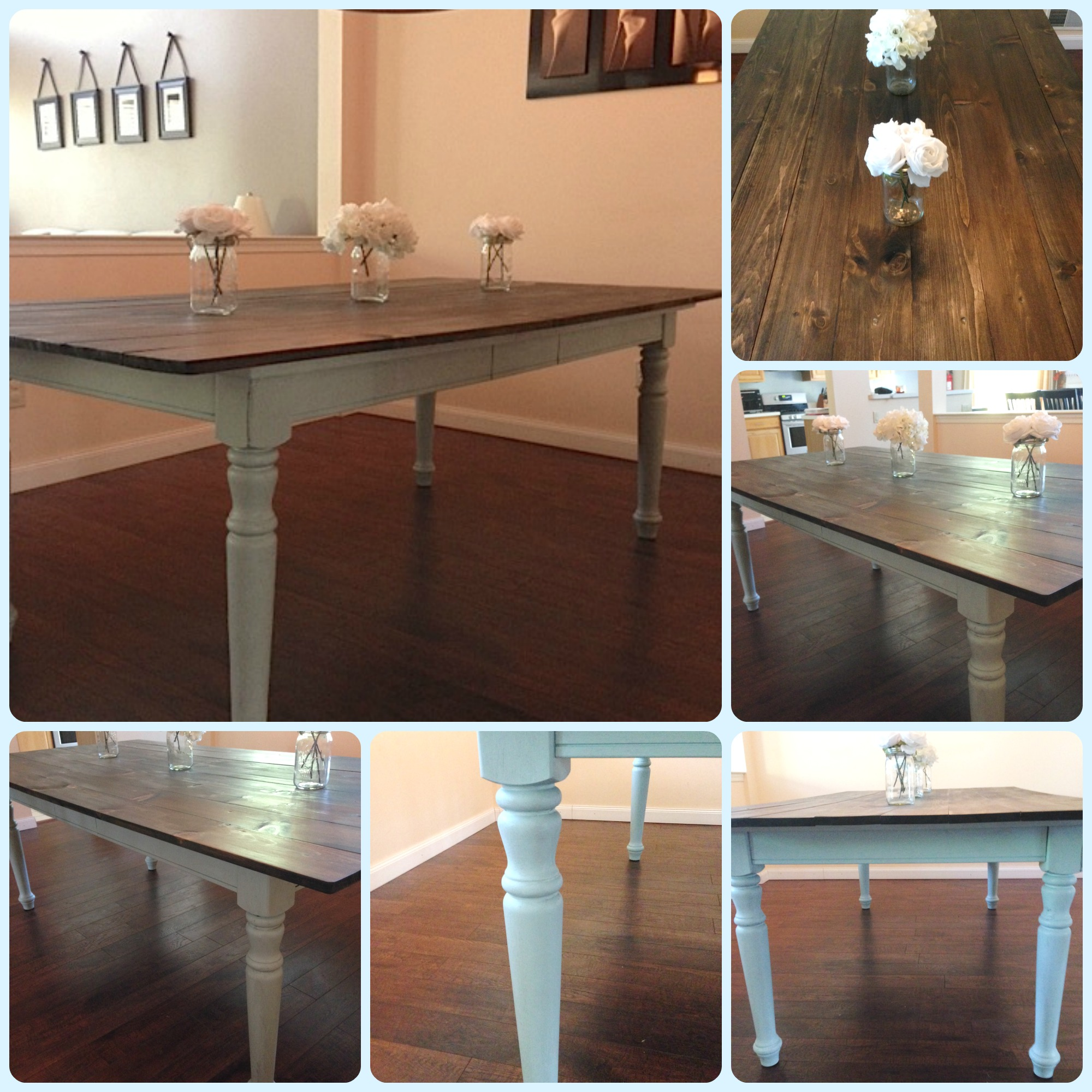 How to turn an old dining room table into a beautiful for Beauty table for sale